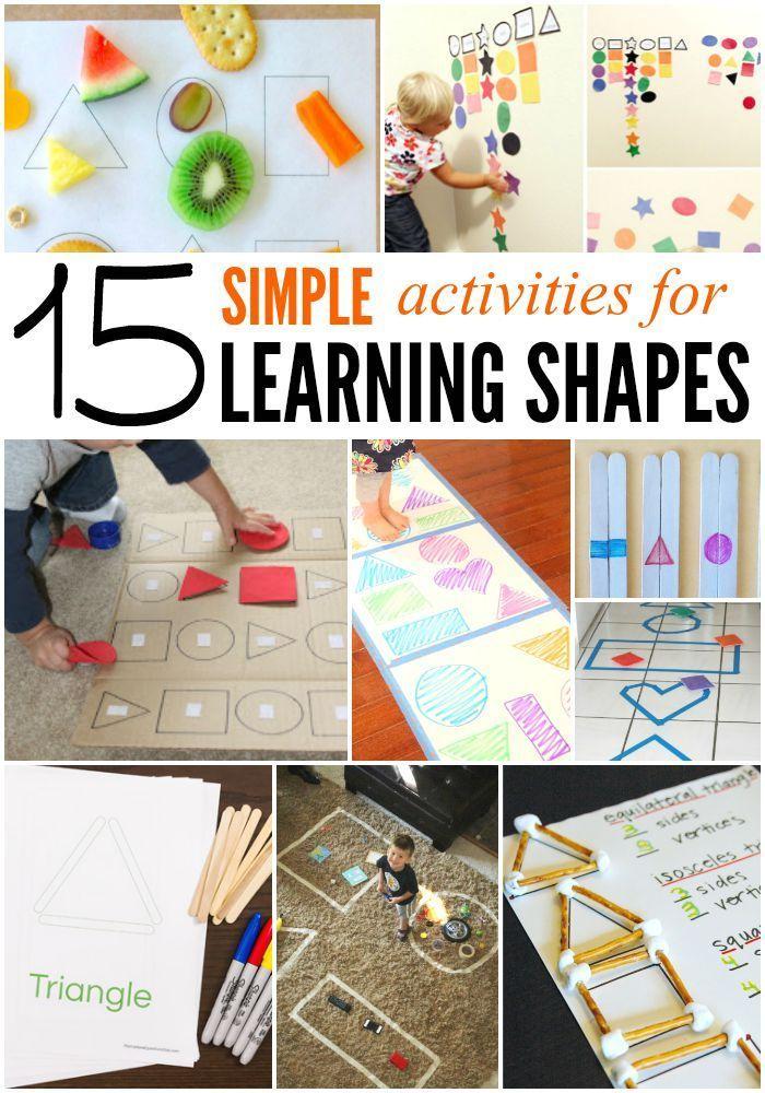 15 Simple Shape Activities for Preschool and Kindergarten.