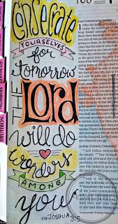 Artsy Faith | Joshua 3:5 Bible Art Journaling