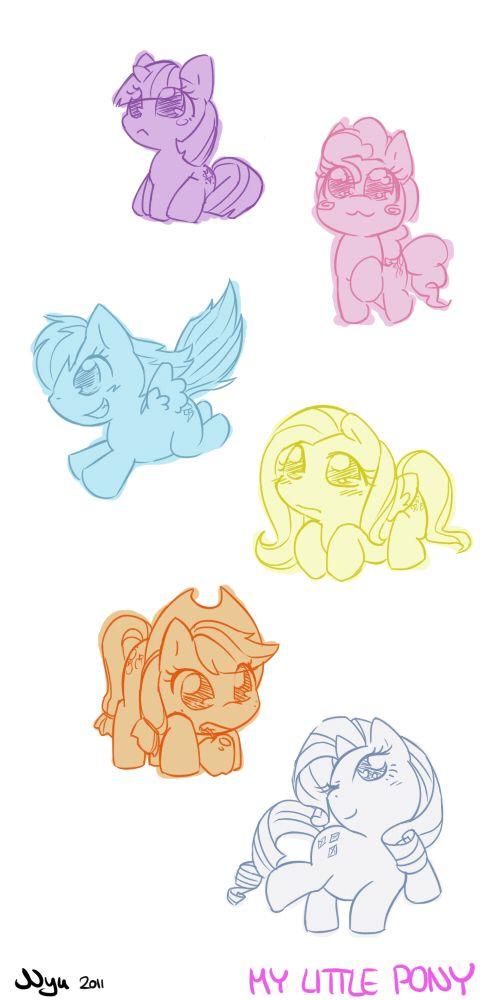 My Little Chibi Pony  by *nyuMlp Fim, Mlp Brony, Mlp Stuff