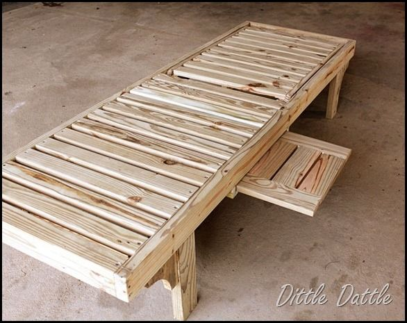 How to make outdoor chaise lounge chair woodworking for Build chaise lounge