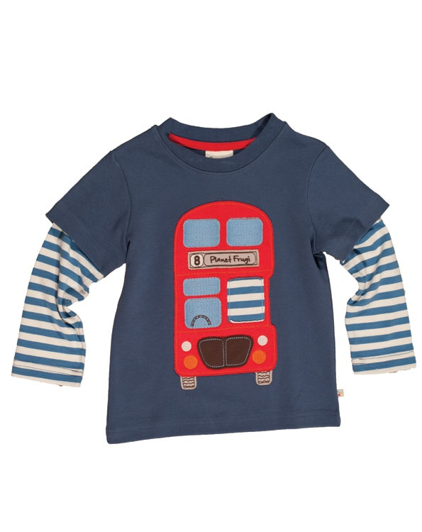 Red Bus - Applique Layered Top