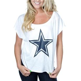 Dallas Cowboys PINK Win Me Over Scoop Neck Tee | Dallas Cowboys Clothing | Dallas Cowboys Store - Dallas Cowboys Pro Shop