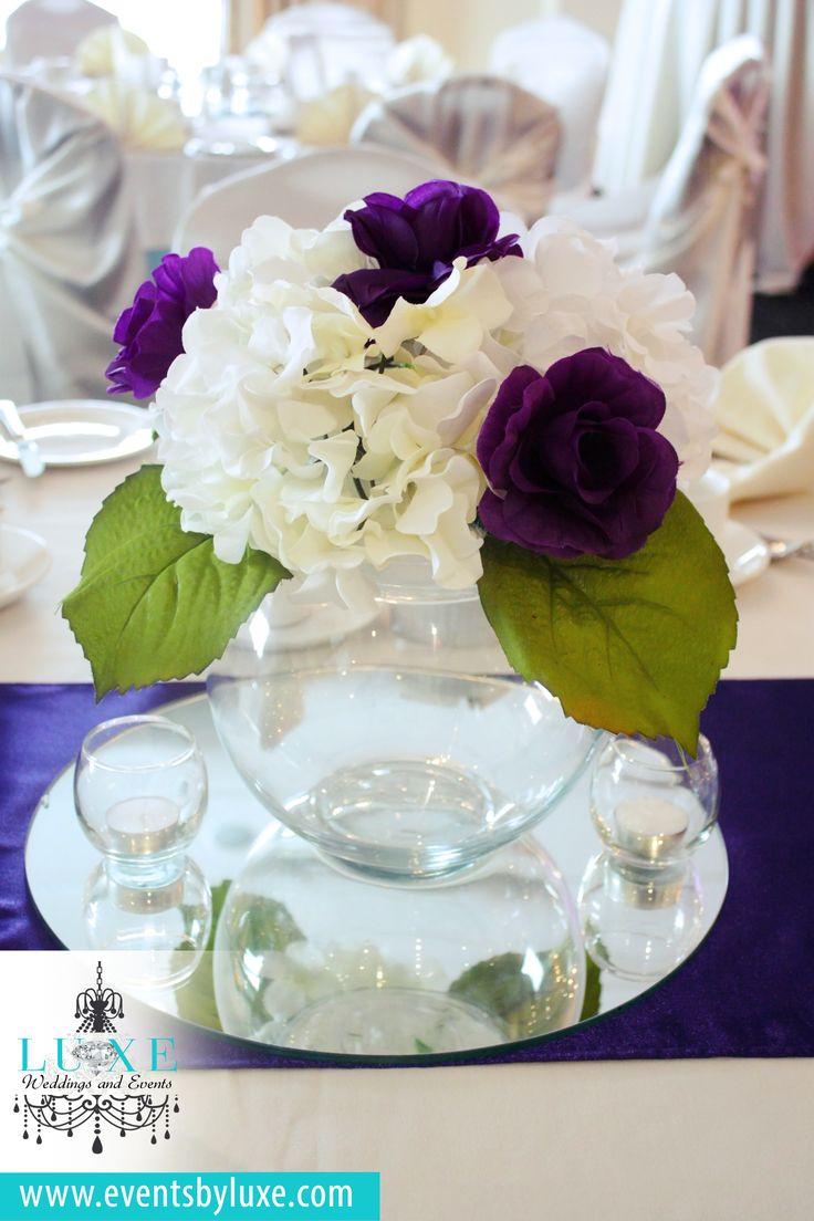 22 best Purple and Ivory Wedding Decor images on Pinterest | Ivory ...
