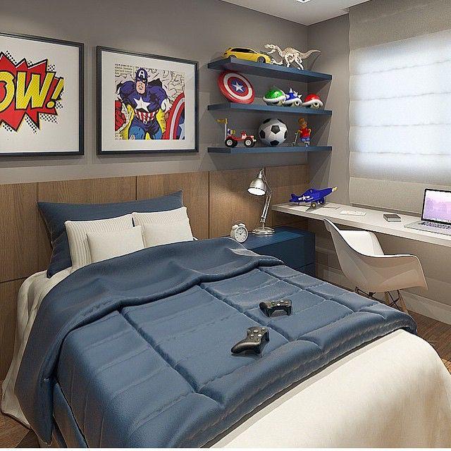 Quarto menino, super heróis em ação Projeto by @hortaevello #bedroom #decoracion #quarto #instaboy #children #superherois #boy #teen #kidsroom #photo #disney #orlando #usa #design #heróis #glamour #decoração #quartodemenino #fabiarquiteta #fabiarquitetainspira