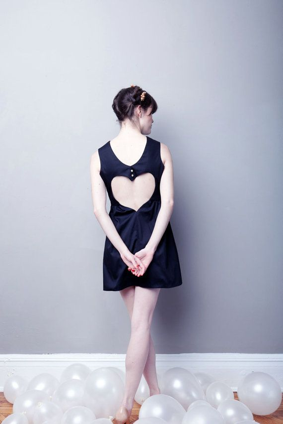 If I Only Had A Heart Dress - BLACK Cotton