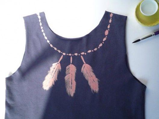customiser tee shirt javel tutoriel 1  DIY : Décorer un tee shirt avec de leau de javel ...
