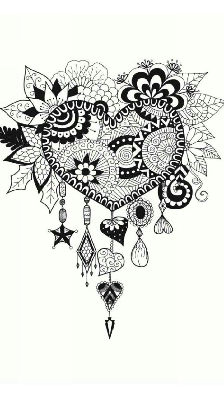 Coloring pages for adults hearts - Henna Wedding Stock Illustrations Cartoons