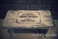 IMPRESJA smaku...: Taboret, stołek, krzesełko w stylu vintage - decou...