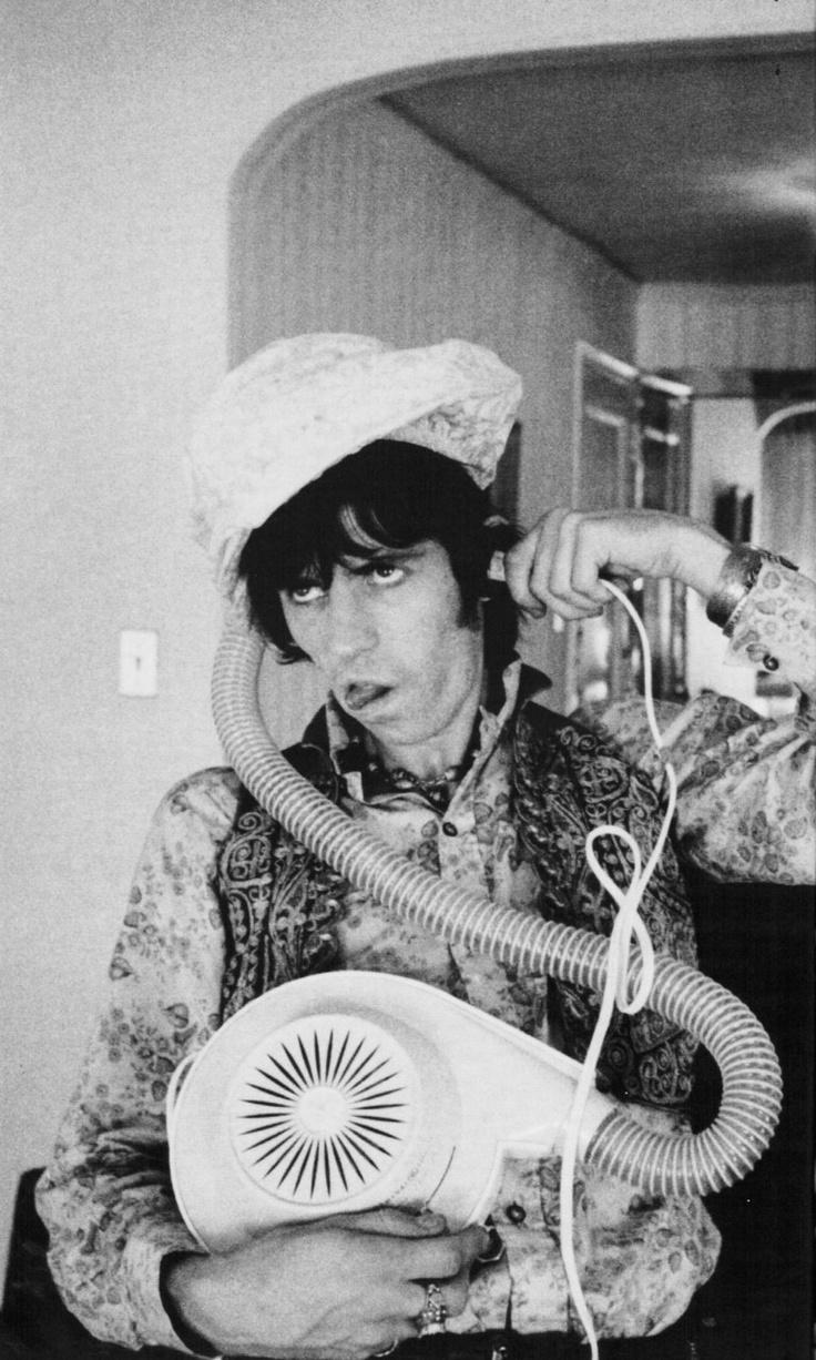 Keith Richards/vintage bonnet hairdryer