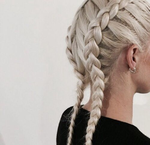 reverse double french braids