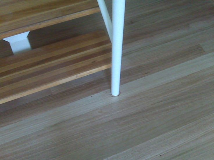 Ash solid treads and southern blue gum flooring