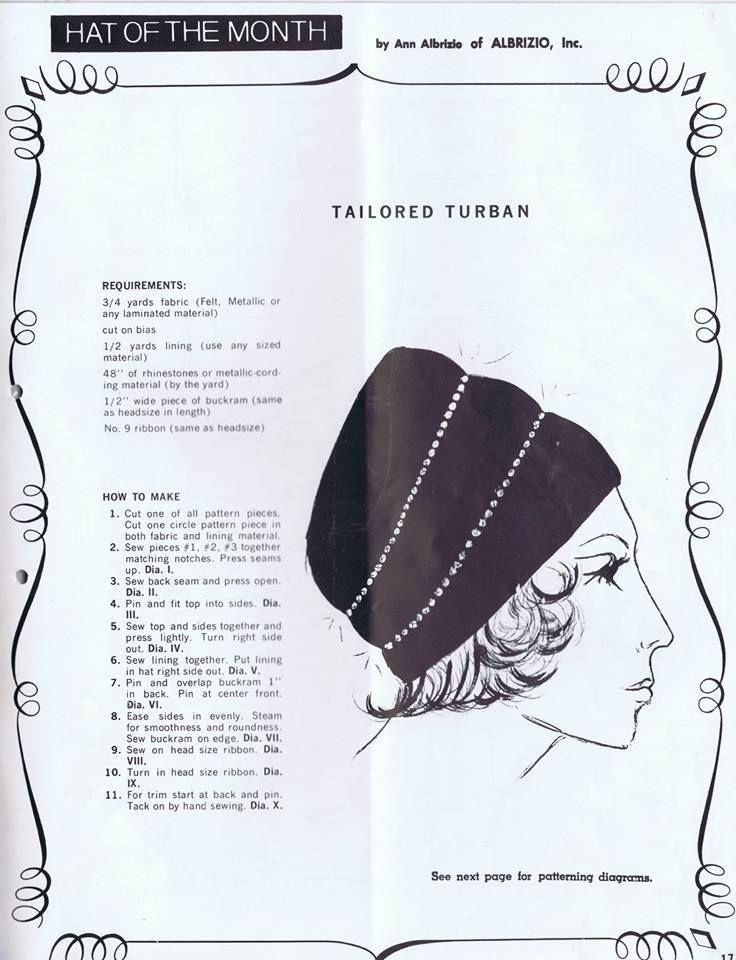 60's tailored turban