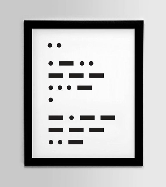 28 best morse code images on Pinterest Morse code bracelet - sample morse code chart