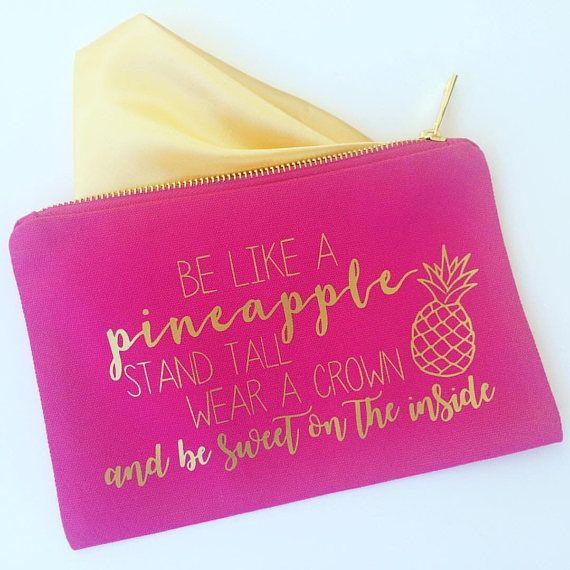 Pineapple makeup bag personalized makeup bag bridesmaid