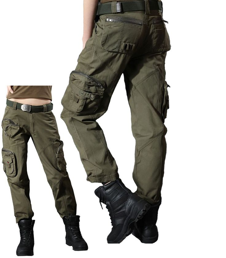 Womens Army Green Cargo Pants