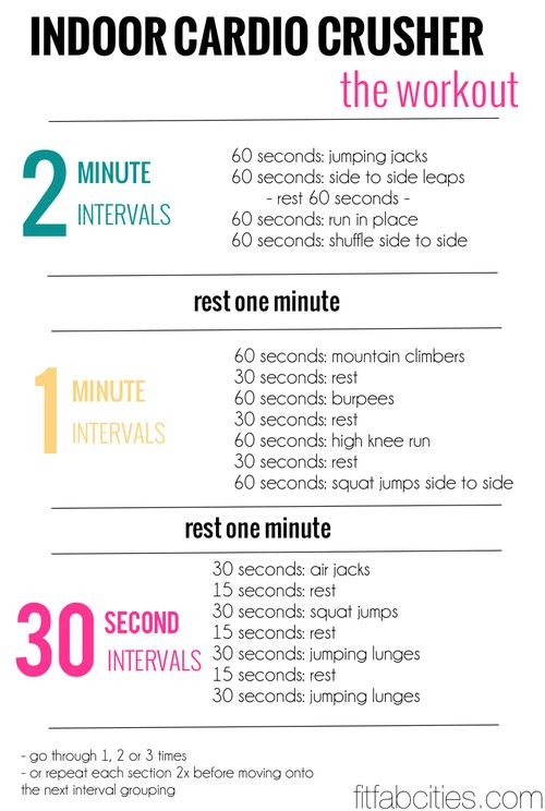 indoor cardio crusher workout routine