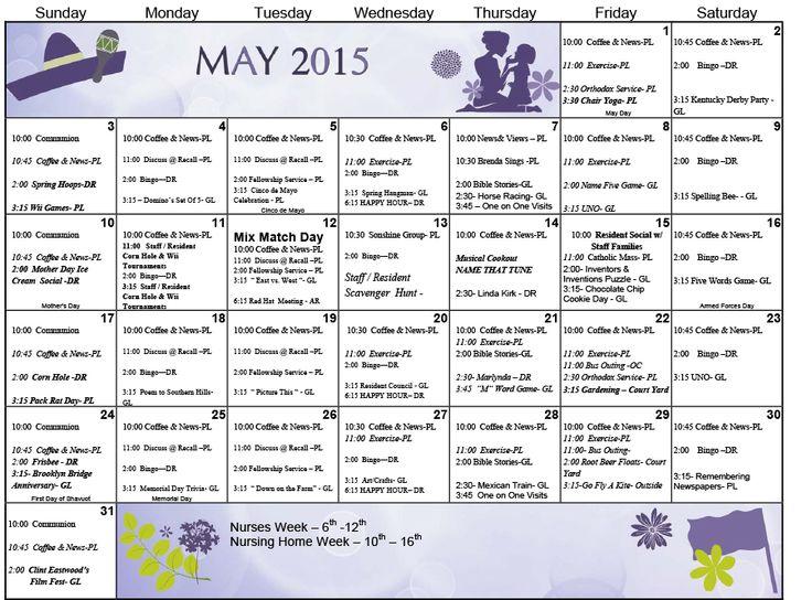 16 best Activity Ideas images on Pinterest Activity ideas - activity calendar