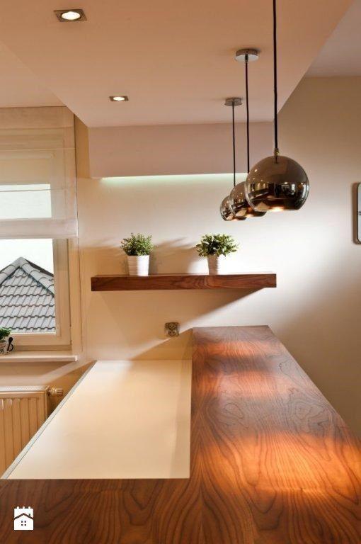 Mieszkanie Kraków realizacja - Średnia otwarta kuchnia w aneksie, styl nowoczesny - zdjęcie od All Design Agnieszka Lorenc