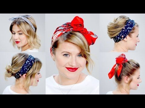 10 different ways to wear 1 scarf on your head How to tie a headscarf turban and headband style - YouTube