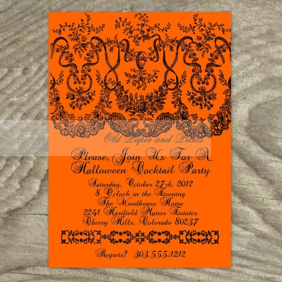 7 best invitations images on pinterest invites lyrics and text halloween party invitation antique black by oldpaperandprints 1299 stopboris Choice Image