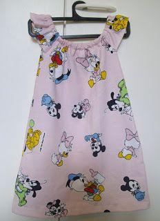 Mönster och instruktioner för klänning 1-3år