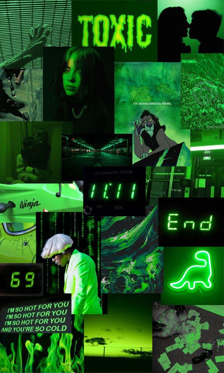 wallpaper iphone estetika hijau neon pada tahun 2020 |  Hijau ...