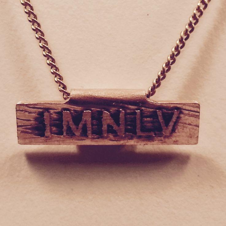 IMNLV tiny copper necklace.