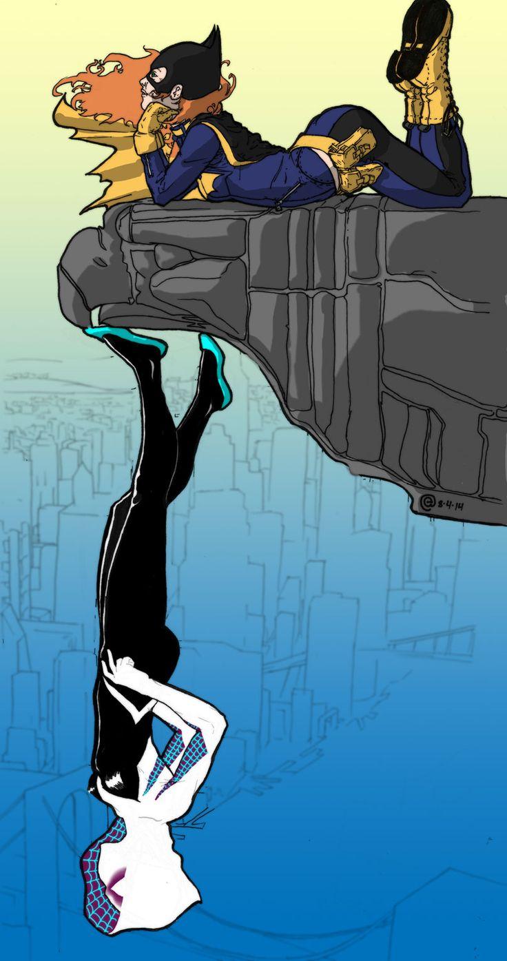 Batgirl & Spider-Gwen - El-Amin.deviantart.com