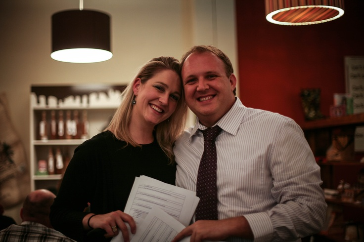 Behind the scenes of www.come-winewithus.com Sybil Doms with business partner Peet Stander