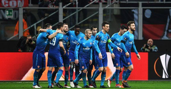 Arsenal are the first side to beat AC Milan at the San Siro in the Europa League/UEFA Cup since February 2002