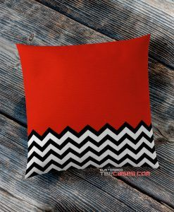 Red Chevron Twin Peaks pillow case, Custom Pillow case, Square Rectangle pillows case