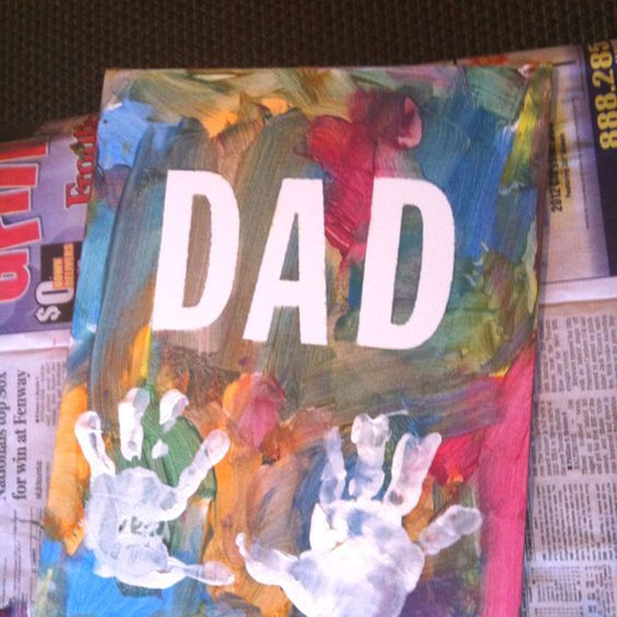 Fingerprint Craft - Fathers Day Cards from Kids