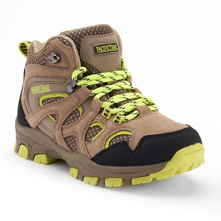 Pacific Trail Diller Light Boys' Hiking Boots, Boy's, Size: 10 T, Med Beige