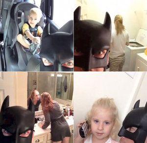 Batman Dad Harrassing Wife And Kids Vine Compilation | Geekologie