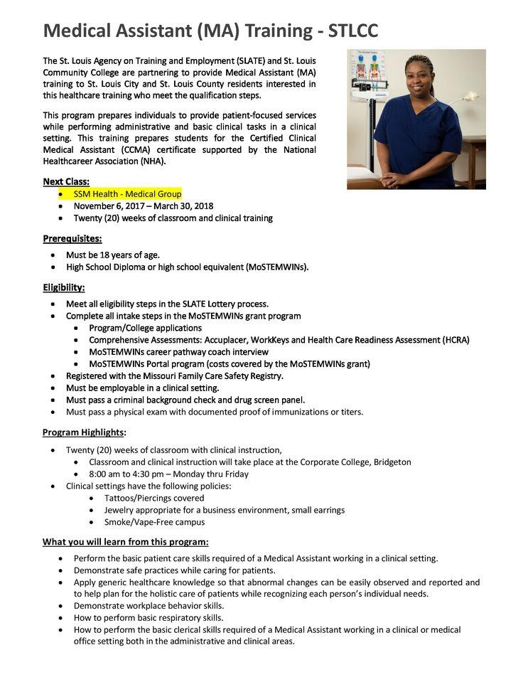 Beste Ideen Over Medical Assistant Training Op