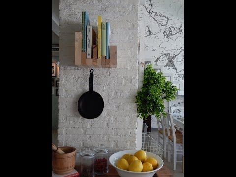 Rdeco: DIY wall bookcase - YouTube  Yπέροχη βιβλιοθήκη τοίχου