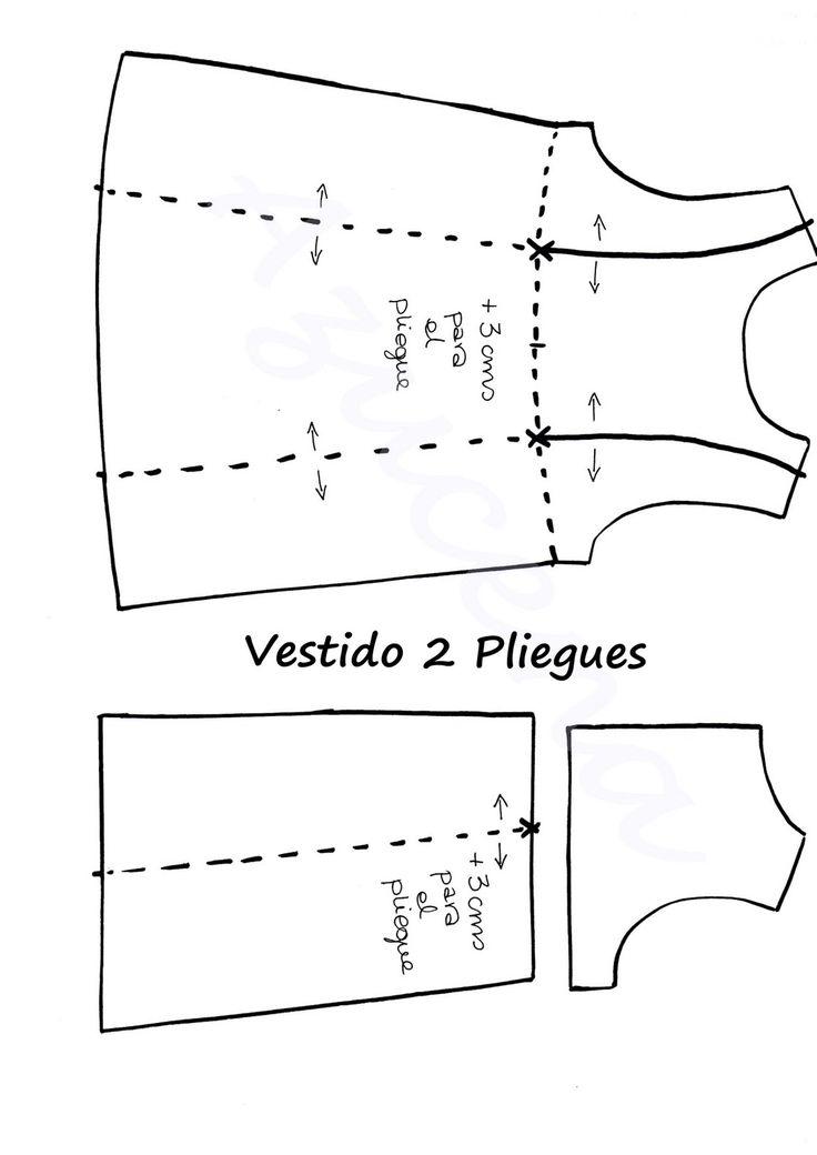 UN RINCÓN PARA MARY: PATRÓN VESTIDO 2 PLIEGUES