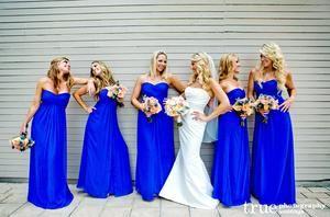 royal blue bridesmaid dress,long bridesmaid dress,chiffon bridesmaid dress,cheap bridesmaid dresses,BD828