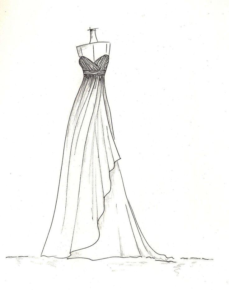 Fashion dress sketches drawing