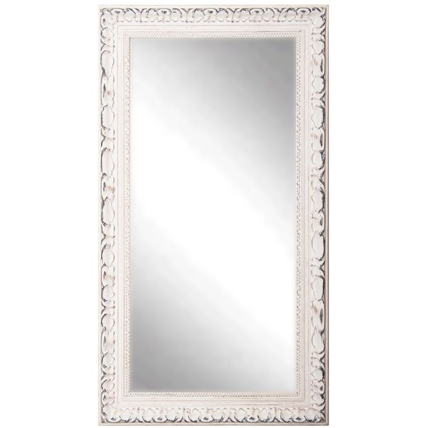 American Made Rayne Distressed French Victorian White Full Length Mirror - Overstock™ Shopping - Great Deals on Mirrors