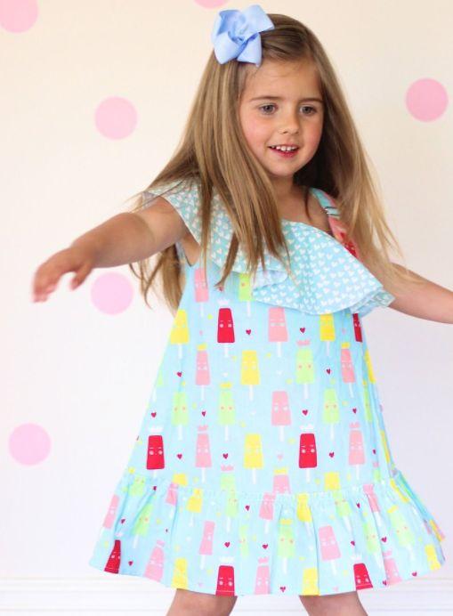 Popsicle Frosty Blue Princess Ice Cream Dress