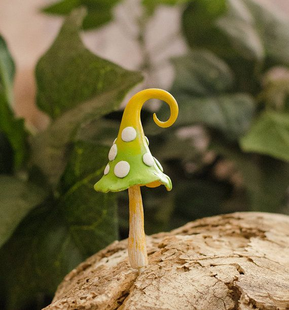 Miniature Fairy Garden Accessories Mushroom, Fairies House, Polymer Clay…