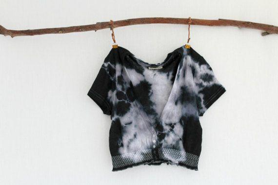 WAYFARER . tie dye women's crop cardi . petite by bohemianbabes