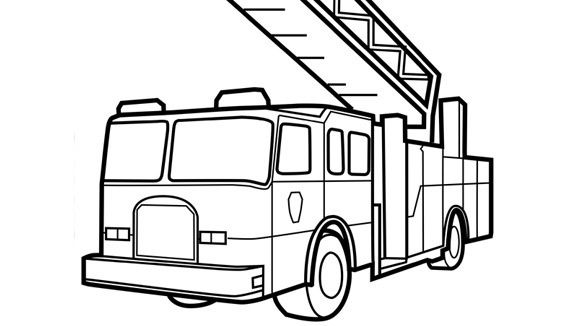 Fire Truck Outline Coloring Page Fire Truck Coloring Pages