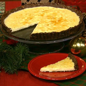 Mario Batali's Three-Cheese Tart with Chocolate and Orange
