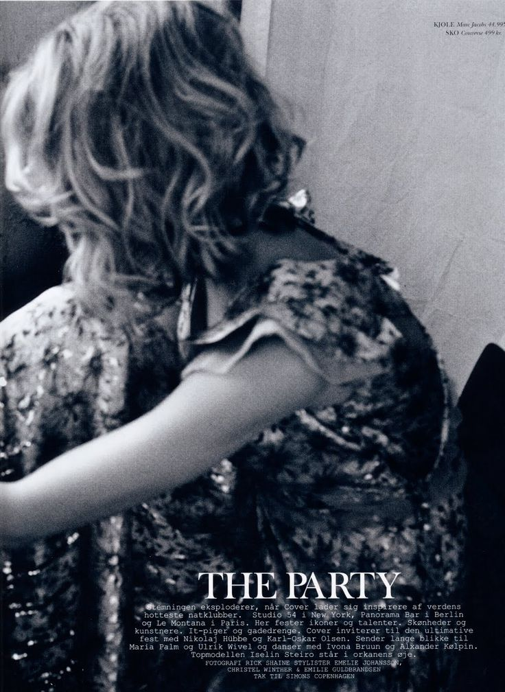 The Party – Iselin Steiro – Cover Magazine December 2010 – Rick Shaine
