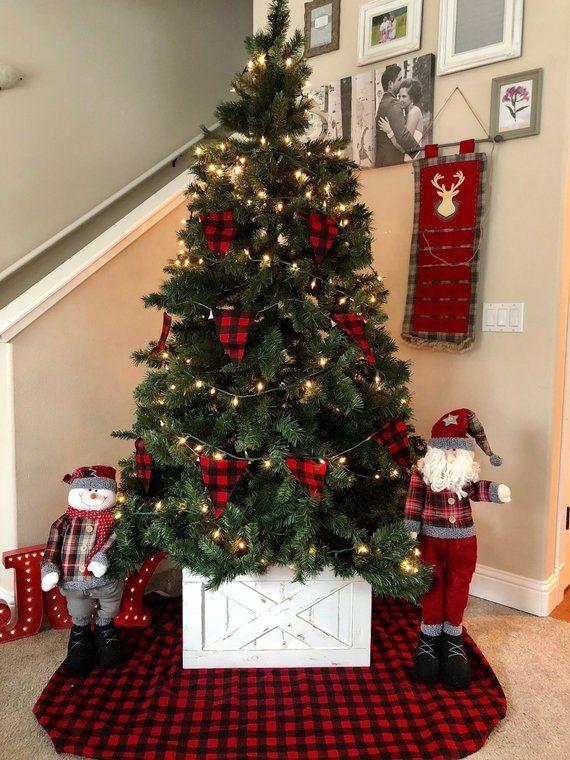 Sale Christmas Tree Box Tree Skirt Christmas Decorations Etsy Christmas Tree Box Christmas Tree Stand Christmas Tree Themes