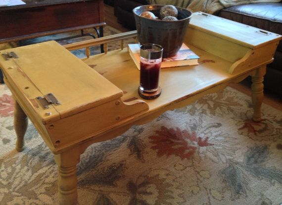 1950 S Vintage Colonial Coffee Table Early American Solid