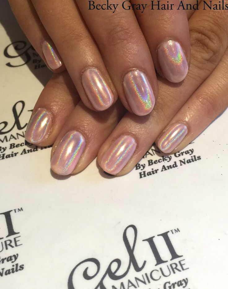 #gelii #manicure pink puddle #magpiebeauty #magpieglitter #Aurora #showscratch #tcbg #holographic #holochrome