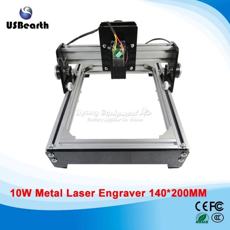 488.00$  Buy now - http://aliaof.shopchina.info/1/go.php?t=32723563510 - Russia tax free 10W laser 10000MW diy laser engraving machine 14*20cm metal engraver marking machine metal   #magazineonlinewebsite